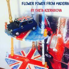 #handmade #flowerpowerfrommadeira #ilovemini#minicollection#svetaazernikova #artfurnitire#handpaintedfurniture