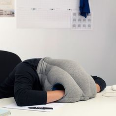 ostrich pillow looks like something for a long plane ride! But bad hair afterward!  LOL