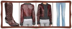 D & G Leather Jacket, Lucky Brand Western Boots, Missoni Jeans