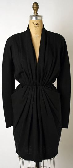 Dress Donna Karen (American) ca. 1987 wool