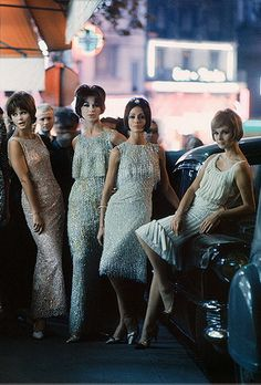 Mark Shaw Editioned Photo-Models in Christian Dior-Paris, 1961