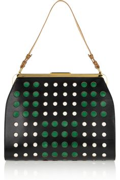 Marni | Perforated leather shoulder bag | NET-A-PORTER.COM