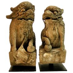 Pair of Chinese Qilin Sculptures 1
