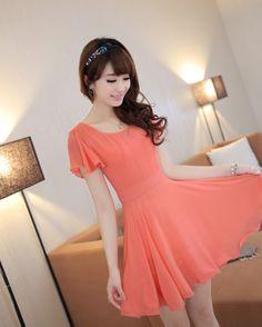Cungmua - Đầm xòe nữ tay cánh tiên - Thiết kế đơn giản giúp bạn gái dịu dàng xuống phố đón nắng xuân với phong cách thời trang nữ tính thật sành điệu. Chỉ 159.000đ cho trị giá 318.000đ.
