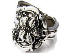 flower spoon ring