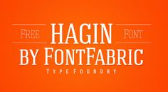 Free Serif Fonts to Give Your Designs a Traditional Touch: With a geometric and old school style, Hagins is ideal for branding and logos. It was designed by Miroslav Bekyarov for Font Fabric.