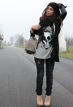 winter outfit that shirt. LOVE!!