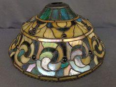 shopgoodwill.com: Dale Tiffany Slag Glass Lamp Shade