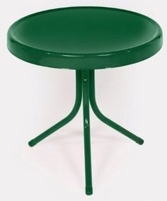 Amazon.com: Hunter Green Retro Metal Tulip Side Table: Patio, Lawn & Garden $35