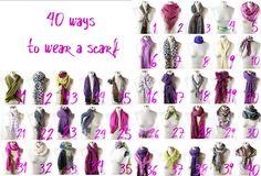 Creative scarf styles!
