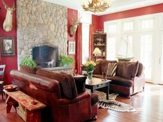 Stylish country themed living room decor