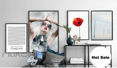 Vougue Cover Red Poppy Flower Canvas Prints Wall Decals Modern Art Decor IDCCV-BO-000066
