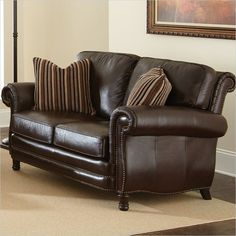 Cymax S Leather Sofa