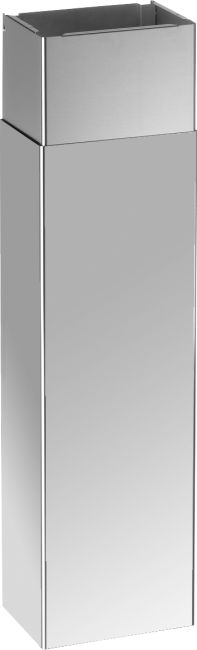 Standard duct cover, suitable for all hoods, excluding 2 blower models. Finishing, stainless steel. Tecnogas SUPERIORE