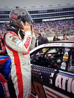 Dale Jr getting ready to go on Monday for the race at Texas Motor Speedway