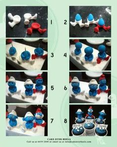 28 ideas for cupcakes decoration fondant step by step clay Fondant Figures Tutorial, Cake Topper Tutorial, Fondant Icing, Fondant Toppers, Cupcake Toppers, Cake Decorating Techniques, Cake Decorating Tutorials, Fondant Animals, Modeling Chocolate