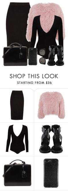 """""""Untitled #1726"""" by directioner-123-ii ❤ liked on Polyvore featuring River Island, Charlotte Simone, Alice + Olivia, Common Projects, Mark Cross and Gentle Monster"""