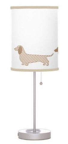 Lamp | Beige Dachshund Border – The Smoothe Store. Just ordered this! Doxie lovers check out this new store I found thesmoothestore.com