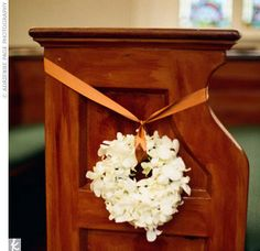 Perfect decor for a church pew