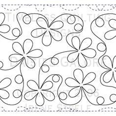 daisy meander quilting design for pattern repeats note link is