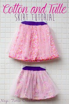 Cotton and Tulle Skirt Tutorial - Nap-time Creations