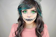 maquillage Halloween chat vampire