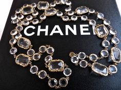 """Chanel Chicklet 51"""" Sautoir Necklace All photos were taken from my actual items,  I only post my photos on my Ebay store SINCERE_INTERNATIONAL, my personal photo gallery : Shutterfly.com and here.   IF YOU SEE these photos somewhere else WERE ALL STOLEN FROM ME, My photos were spotted somewhere else, such as used by other Ebay sellers, 淘寶網 ( Taobao ), Facebook, or other people's websites, etc. all not from me.   NOTE BY Ower OF SINCERE_INTERNATIONAL  &  VINTAGE-FRANCE-DE-COUTURE"""