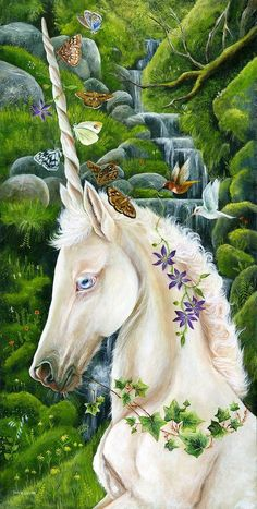 Unicorn art by Janie olsen Unicorn And Fairies, Unicorn Fantasy, Unicorn Horse, Unicorns And Mermaids, Unicorn Art, Fantasy Art, Unicorn Club, Magical Creatures, Fantasy Creatures