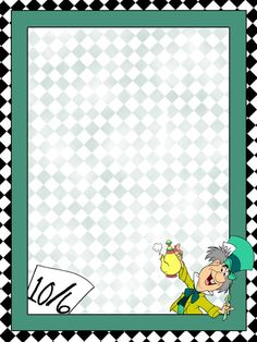 Mad Hatter - Diamond Edge - Alice in Wonderland - Project Life Journal Card… Walt Disney, Disney Diy, Autograph Book Disney, Disney Cards, Disney Printables, Project Life Cards, Alice In Wonderland Theme, Disney Scrapbook, Scrapbooking