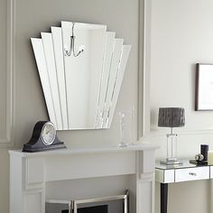 Buy John Lewis Deco Overmantle Wall Mirror, 86.3 x 101cm Online at johnlewis.com