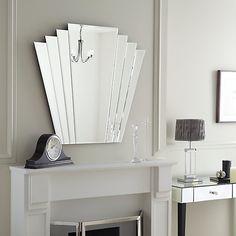 Buy John Lewis Deco Overmantle Wall Mirror, 86.3 x 101cm Online at johnlewis.com