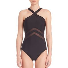 Miraclesuit Swim One-Piece Solid Point of View Swimsuit ($112) ❤ liked on Polyvore featuring swimwear, one-piece swimsuits, apparel & accessories, black, one piece swim wear, sporty bathing suits, sporty one piece swimsuits, bathing suit swimwear and swim swimwear