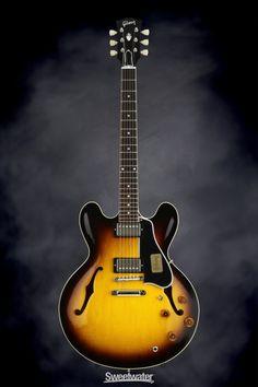Gibson Custom 1959 ES-335 Dot Reissue - Vintage Sunburst   Sweetwater.com