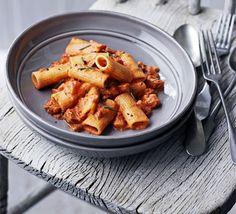 Rigatoni with spicy chorizo & rosemary sauce recipe - Recipes - BBC Good Food