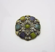 #VintageJewellery Sphinx Scottish Art Glass Agate Brooch 1950s new in at #AdornAnew #ShopSmall