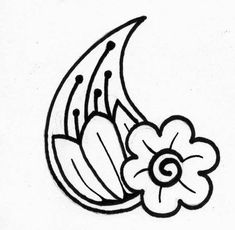 Printable Henna Stencils | Floral henna design for mehndi / henna tattoos.