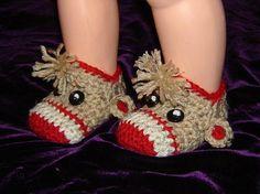 Baby Sock Monkey Booties   INSTANT DOWNLOAD Crochet Pattern
