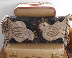 Pillow by Karen Kahle- I have this kit, haven't done much on it yet......