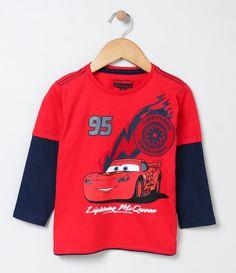 Camiseta infantil    Manga longa    Gola redonda    Com estampa    Marca: Carros    Tecido: Meia malha             COLEÇÃO VERÃO 2017             Veja outras opções de    camisetas infantis   .
