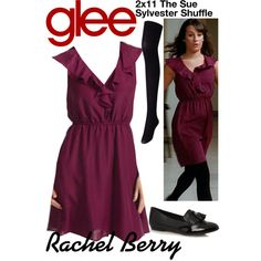 Rachel Berry (Glee) : 2x11 by aure26 on Polyvore featuring polyvore, fashion, style, Uniqlo, Clarks, women's clothing, women's fashion, women, female and woman