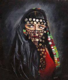 egyptian paints ^^ on We Heart It Afrique Art, Arabian Art, Art Graphique, Egyptian Art, Portrait Art, Islamic Art, Indian Art, Female Art, Art Girl