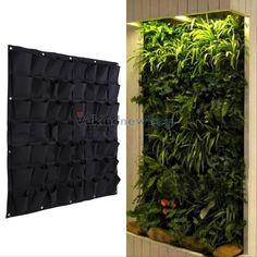 56 Pocket Garden Vertical Planter Wall Mount Living Growing Bag Felt In/ Outdoor