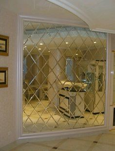 Glass Partition Designs, Living Room Partition Design, Teen Bedroom Designs, Living Room Designs, Mirror Decor Living Room, Pinterest Room Decor, Mirror Tiles, Mirrors, Luxury Dining Room