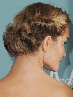 Holiday Party Hairstyles - Romantic Twist - Rosie Huntington-Whiteley