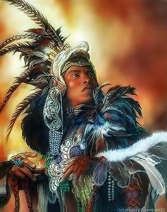 Aztec Dancer by steeelll… Native Art, Native American Indians, Native Americans, Aztec Paintings, Jesus Helguera, Mexican Artwork, Aztec Empire, Aztec Culture, Aztec Warrior