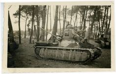 The Germans had captured French tank Renault D1.