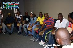 Department of Home Affairs Corporate Fun Day and Drumming team building event in Magaliesburg, facilitated and coordinated by TBAE Team Building and Events