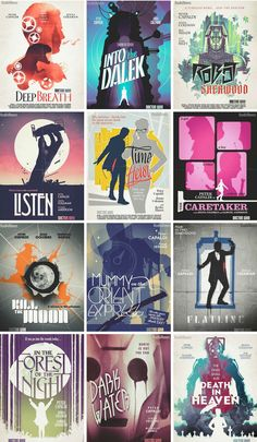 Stuart Manning's awesome Doctor Who series 8 posters are available for download!
