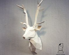 You can make your own fox head for wall decoration!  Printable DIY template (PDF) contains 8 pages. Use 160-240 g/m2 colored paper. Sizes of the head - 32 cm (A4) or 45 cm (A3). I would rather recommend using A3. If you need another size of finished sculpture, just change print scale and size of paper.  Check out our tutorials on youtube.com/channel/UCTO0rWB3sQv161fWv0yG79Q. More photos on www.behance.net/alisa_slonishyna and instagram.com/explore/tags/wastepaperhead.  Please, dont share the…