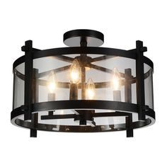 You'll love the Sierra 4-Light LED Semi Flush Mount at Wayfair.ca - Great Deals on all Lighting products with Free Shipping on most stuff, even the big stuff.